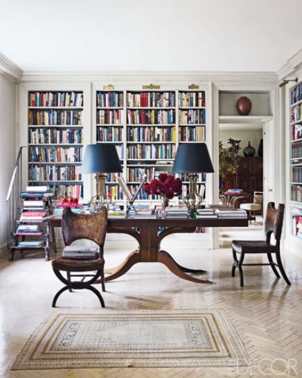 Lynn Nesbitu0027s Apartment Library Via Belle Vivir Interior Design Blog