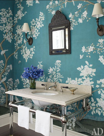 10 Floral Wallpapered Powder Rooms To Inspire,Rose Beautiful Flower Images Hd