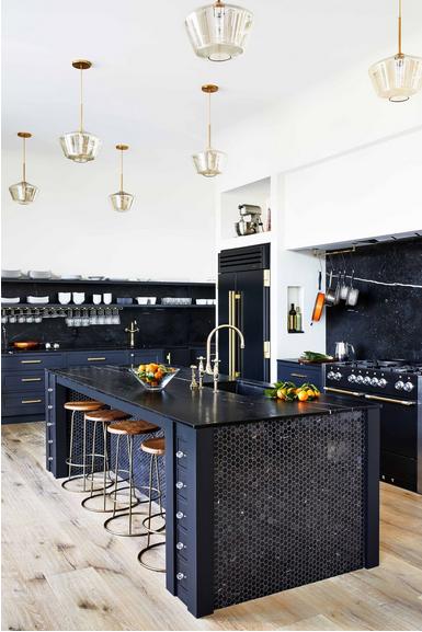 Colorful Modern Home Decor Black And White Kitchen Island